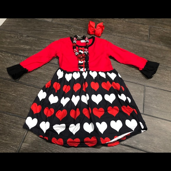 f74f47e6ff36 Valentine's Day Heart twirling dress girls outfit.  M_5c2d96cec89e1dc154dc2a01